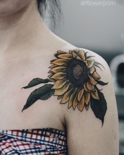 tatuagem flor de girassol