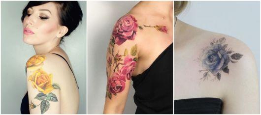 ideias tatuagem de rosa