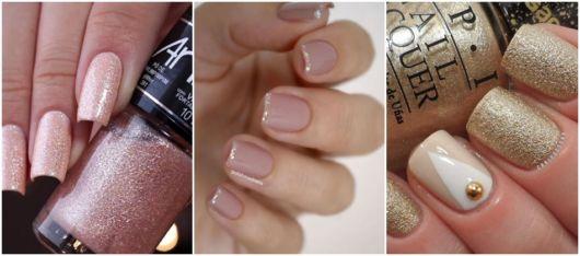 ideias de nail art com brilho