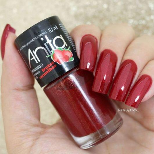 esmalte Anita vermelho