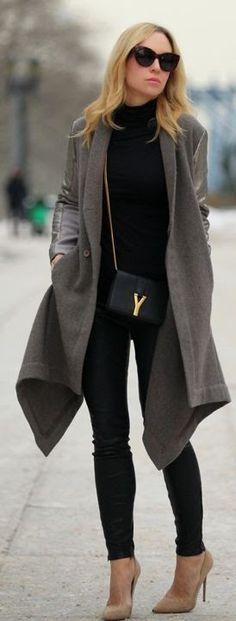 look de inverno com bolsa transversal