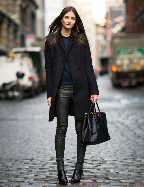look com casaco de lã batida