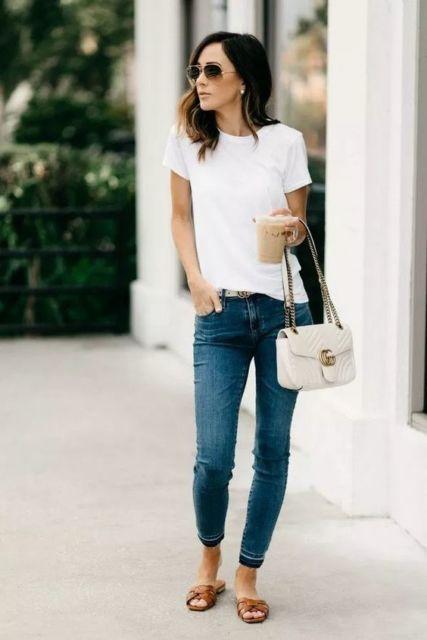 look calça jeans com rasteirinha