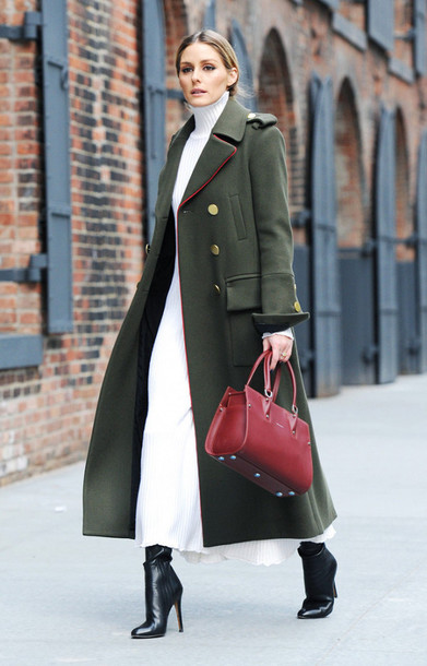 look casaco verde militar