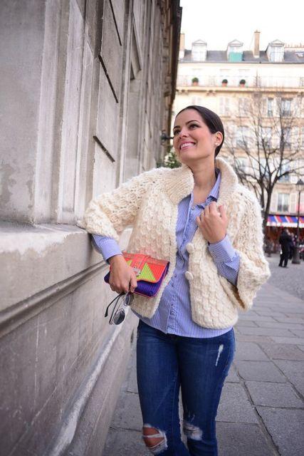 casaco de lã curto