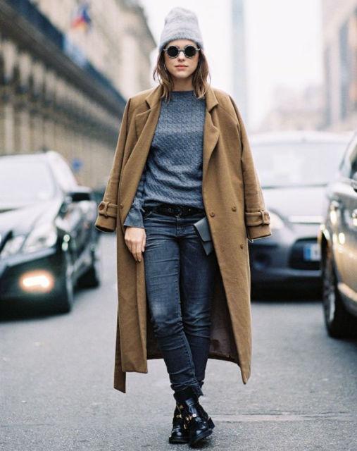 como usar casaco longo com bota