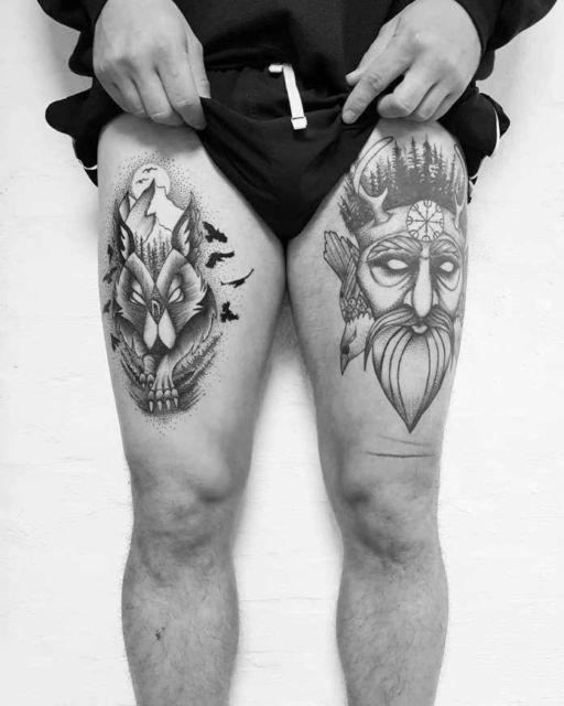 tatuagem na coxa