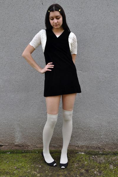look meia branca