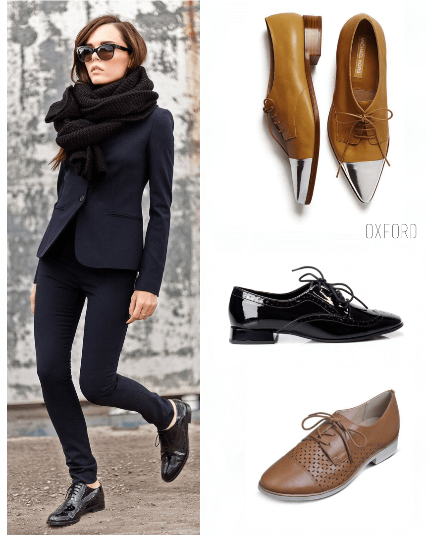 modelo usa look total black com oxford na mesma cor.