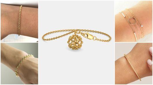 Pulseira de ouro feminina – 52 Opções divinas + Lojas, dicas e preços!
