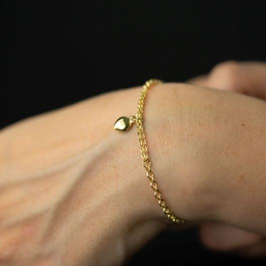 pulseira com pingente malha portuguesa