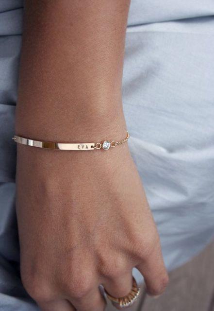 pulseira moderna personalizada