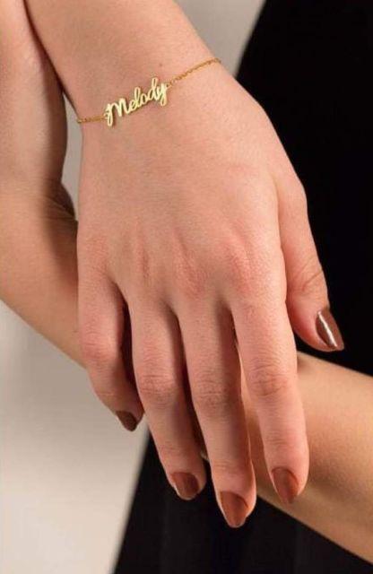 pulseira tradicional com nome