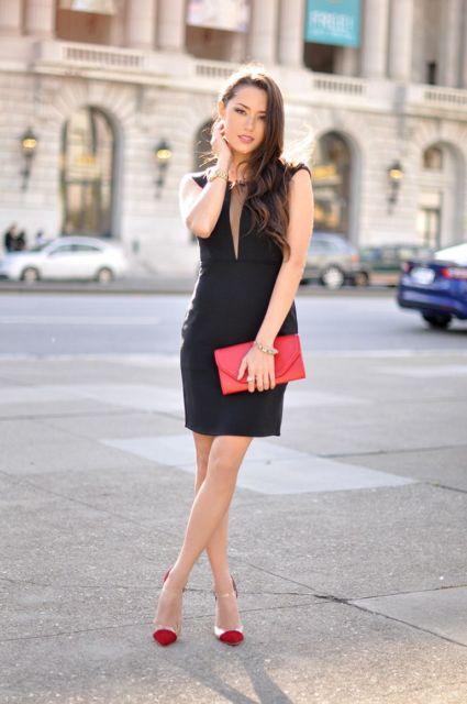 look vestido preto curto