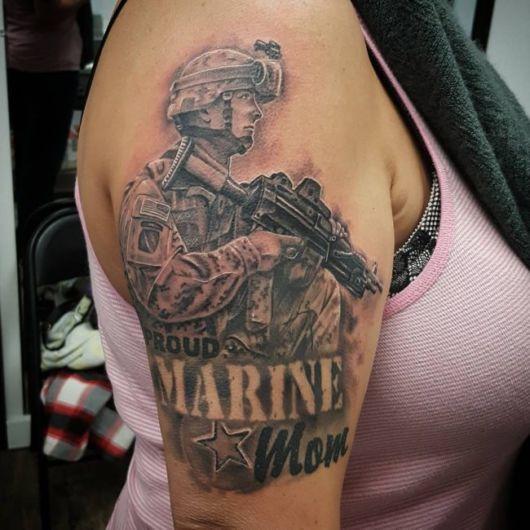 tatuagem miilitar