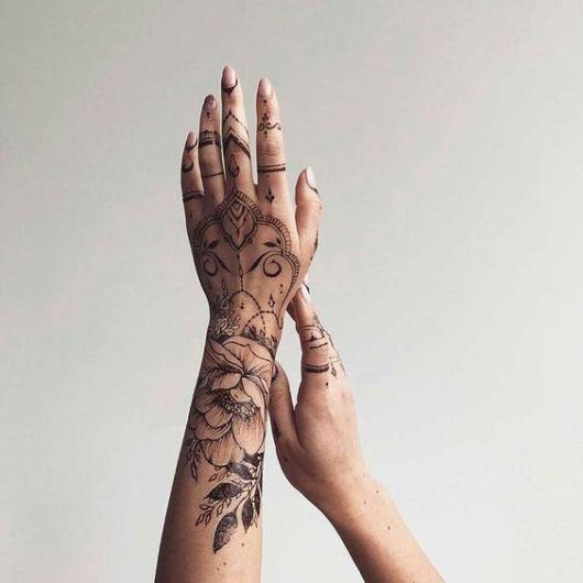 tatuagem indiana grande