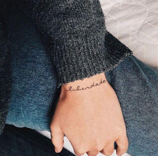 tatuagem liberdade