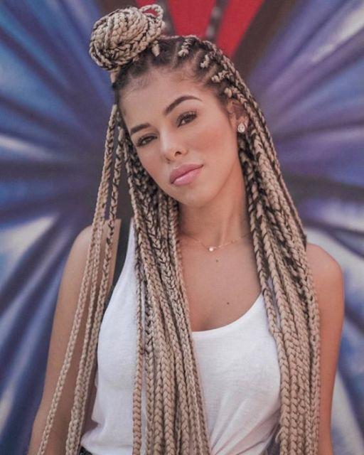 box braids loira