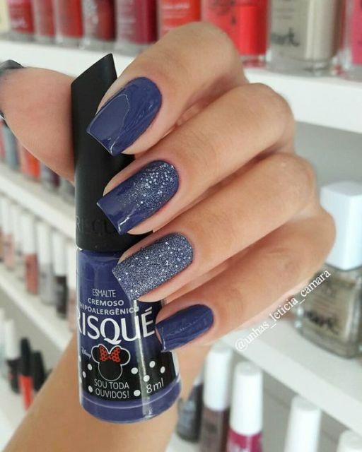 nail art com glitter