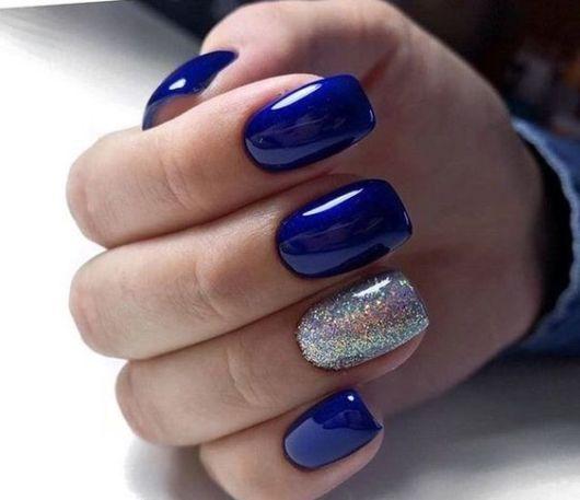 nail art glitter prata