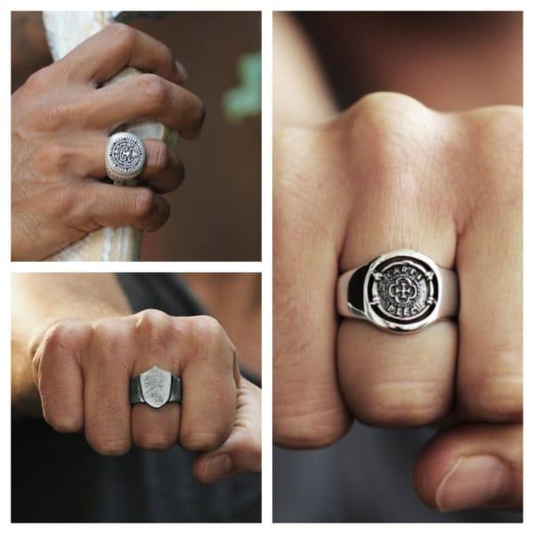 anel de prata masculino