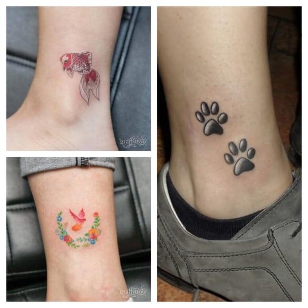 tatuagem no tornozelo