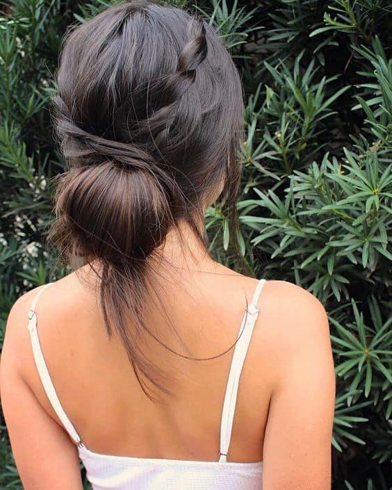 penteado com trança para casamento