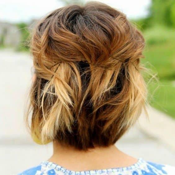 penteado despojado solto para cabelo curto