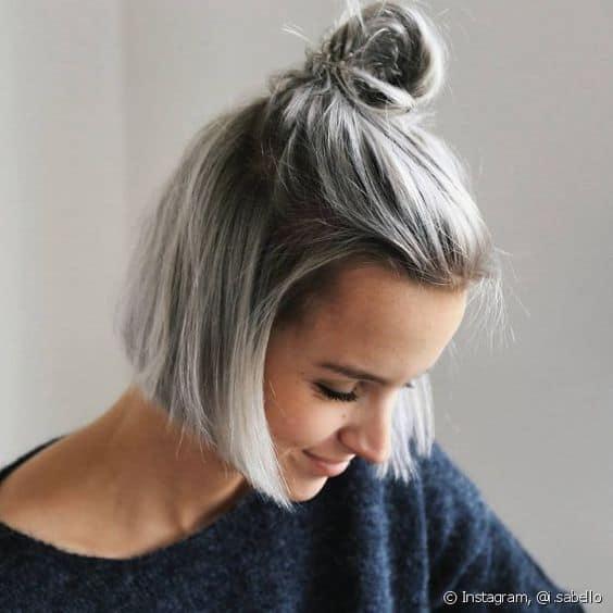coque para cabelo curto