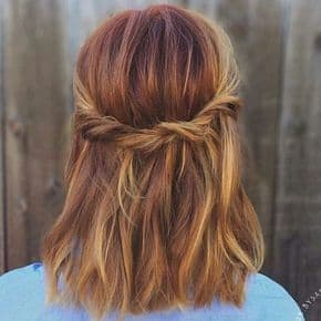 penteado semi preso cabelo curto