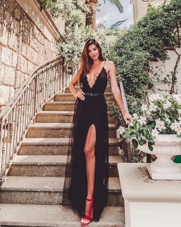 como usar vestido preto com cinto