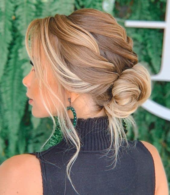 penteado com coque para casamento