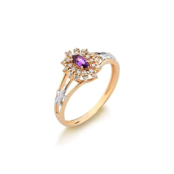 anel de ouro rosé