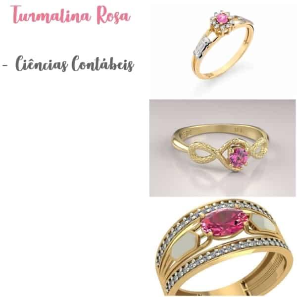 anel de turmalina rosa significado