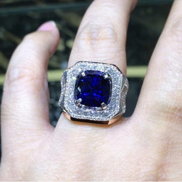 anel de prata com pedra