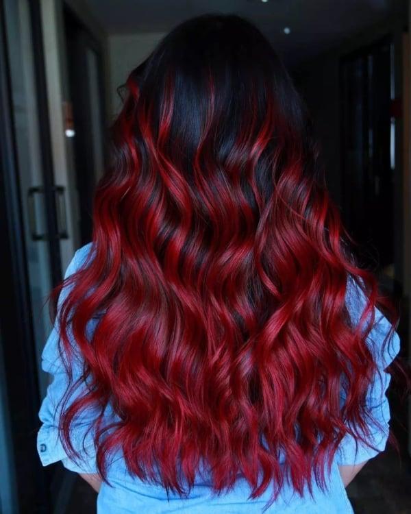 cabelo com vermelho fantasia