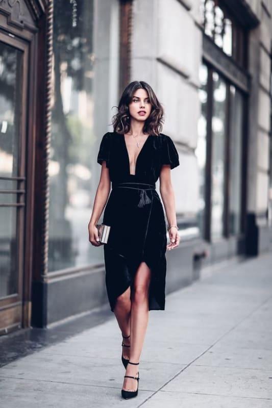 look vestido preto