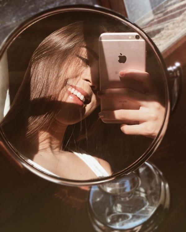 como fazer selfie no espelho