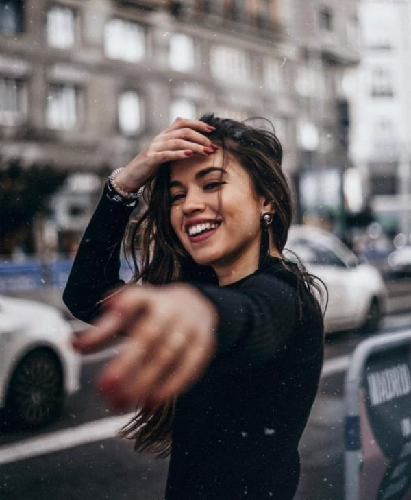 foto sozinha na rua