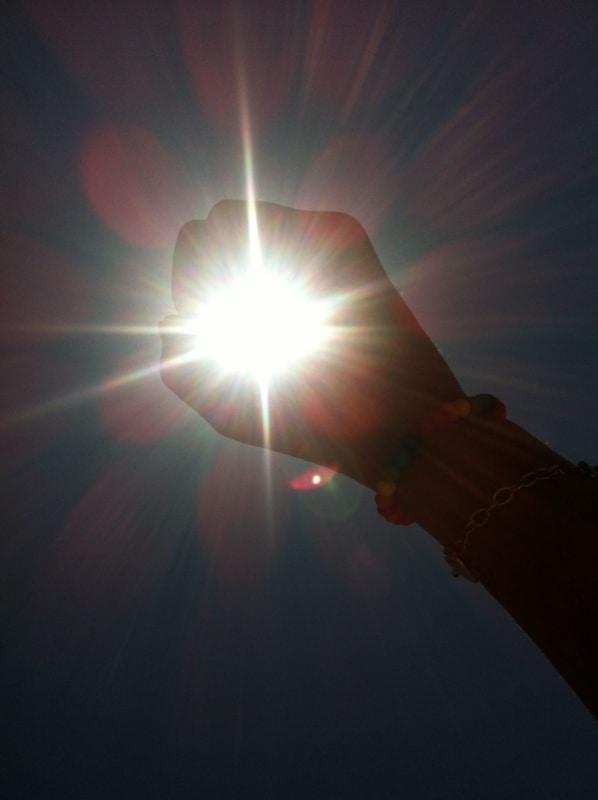foto no sol