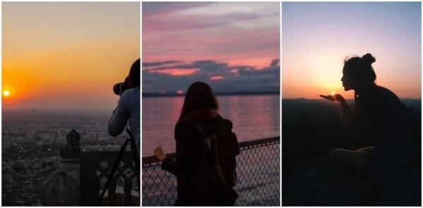 ideias para foto no pôr do sol
