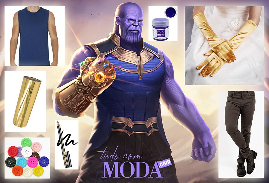 Como fazer fantasia masculina improvisada e barata do Thanos