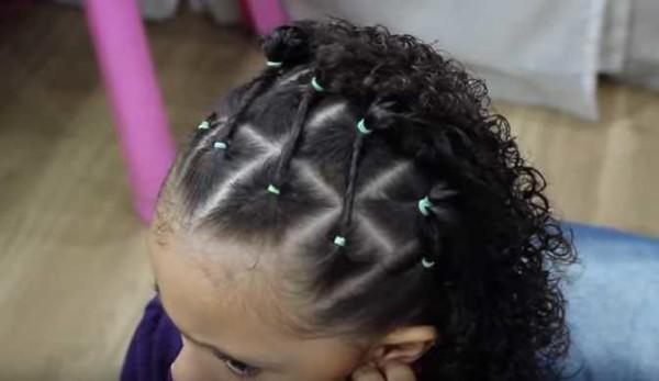 fotos de penteado com ligas