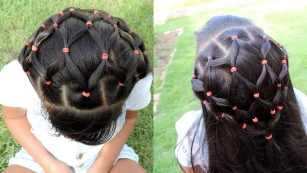 penteado com ligas com mechas