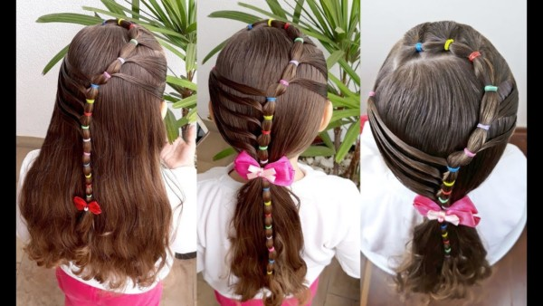 penteado com ligas infantil
