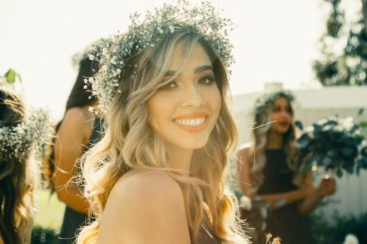 penteados soltos para casamento fios loiros