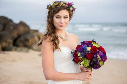 penteados soltos para casamento para penteado na praia