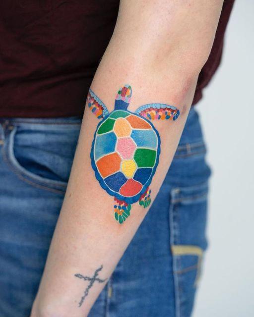 tatuagem de tartaruga