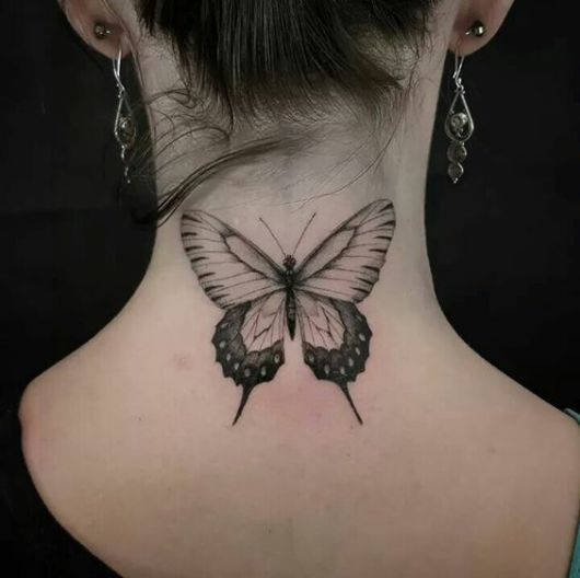 tatuagem grande borboleta