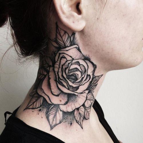 tatuagem grande de rosa